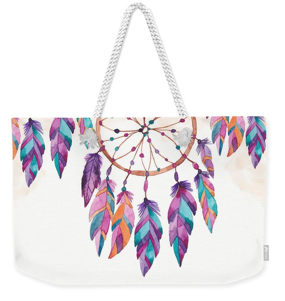 Boho Dreamcatcher - Boho Chic Ethnic Nursery Art Poster Print Weekender Tote Bag