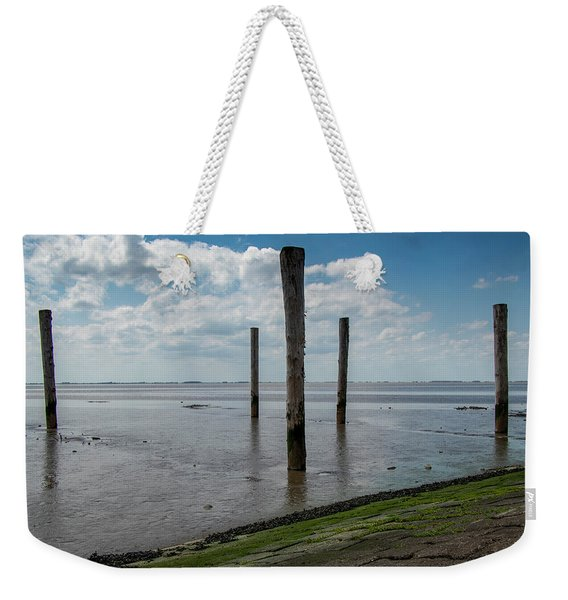 Weekender Tote Bag featuring the photograph Bohrinsel Viewing Platform by Anjo Ten Kate