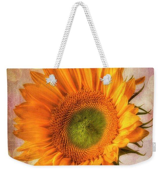Bokeh Sunflower Weekender Tote Bag