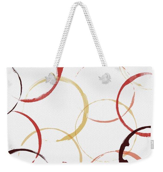 Bold Modern Wine Rings Art Weekender Tote Bag