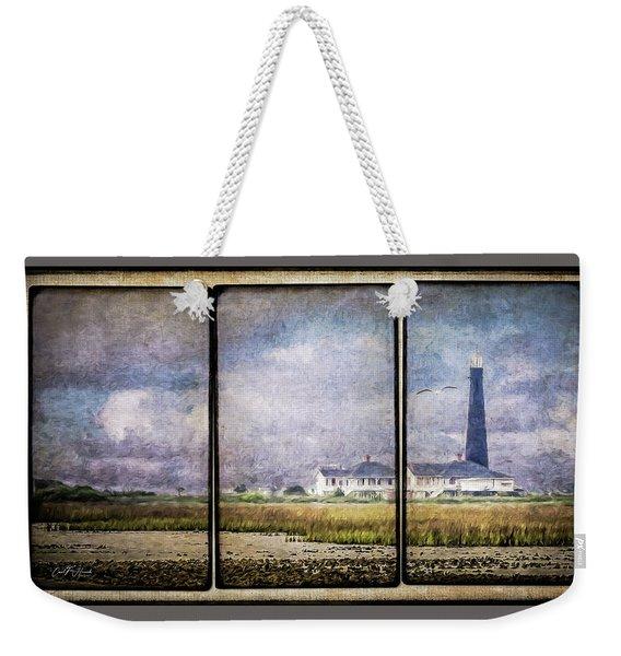 Bolivar Lighthouse Triptych 1 Weekender Tote Bag