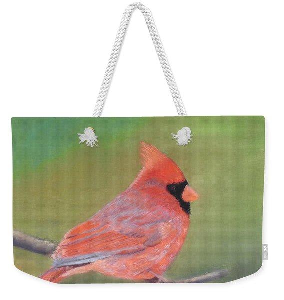 Bonded Pair - Male Cardinal Weekender Tote Bag