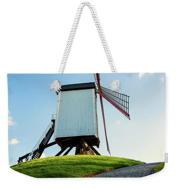 Bonne Chiere Windmill Bruges Belgium Weekender Tote Bag