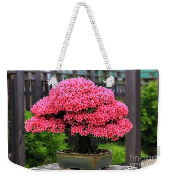 Bonsai Pink Azalea View Weekender Tote Bag