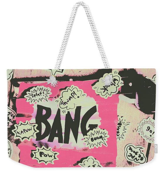 Boom Crash Bang Weekender Tote Bag