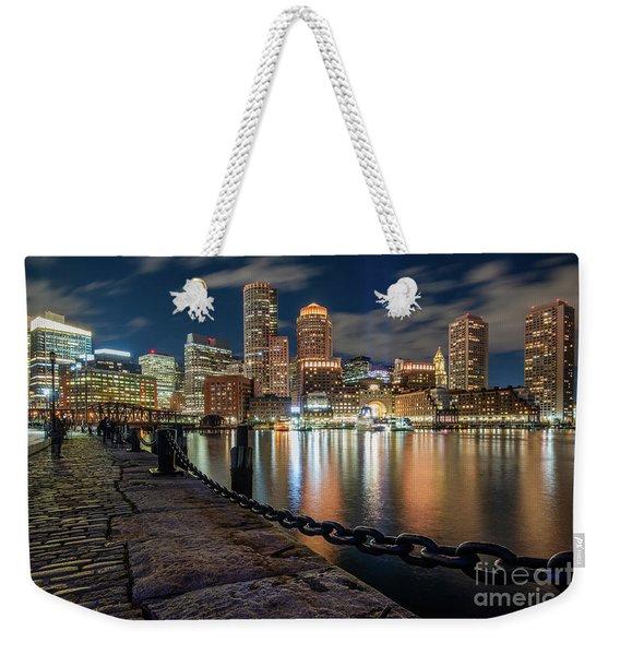 Boston At Blue Hour Weekender Tote Bag