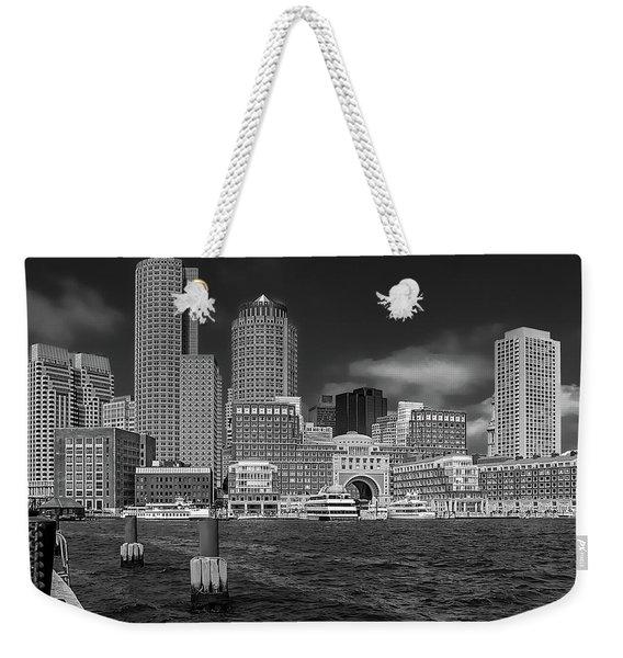 Boston Harbor Skyline Weekender Tote Bag