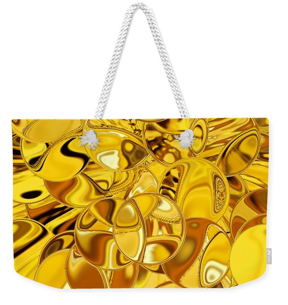 Weekender Tote Bag featuring the digital art Boules D Or by A zakaria Mami