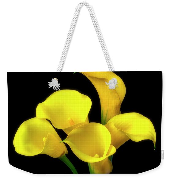 Bouquet Of Yellow Calla Lilies Weekender Tote Bag