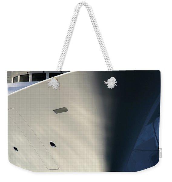Bow Of Mega Yacht Weekender Tote Bag