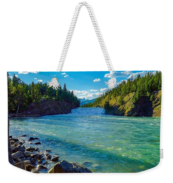 Bow River In Banff Weekender Tote Bag