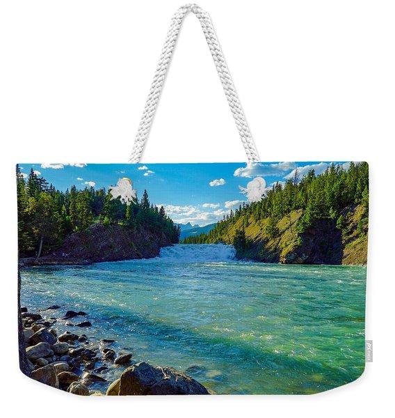 Bow River In Banff Weekender Tote Bag