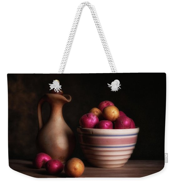 Bowl Of Potatoes With Pitcher Weekender Tote Bag