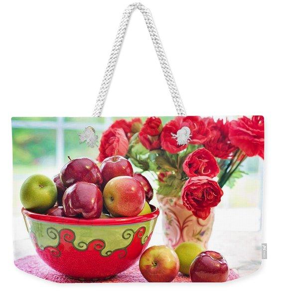 Bowl Of Red Apples Weekender Tote Bag