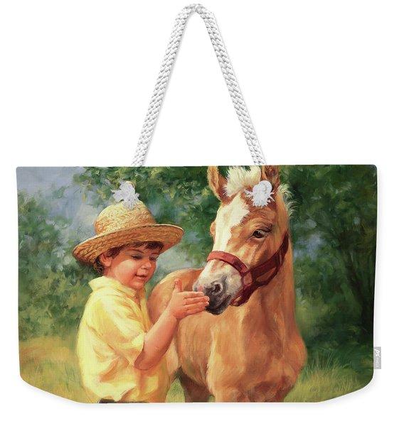 Boy And Foal  Weekender Tote Bag
