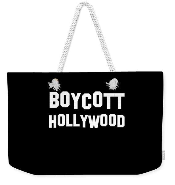 Boycott Hollywood Weekender Tote Bag