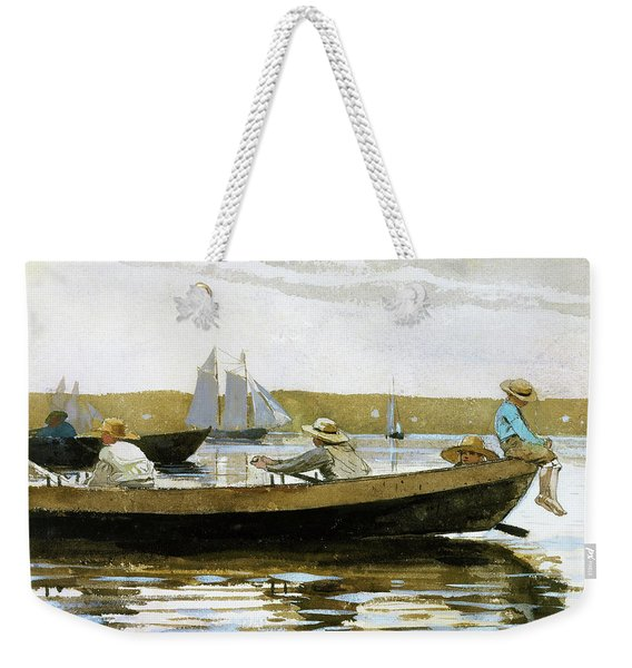 Boys In A Dory - Digital Remastered Edition Weekender Tote Bag