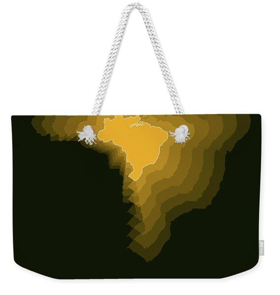 Brazil Radiant Map 1 Weekender Tote Bag