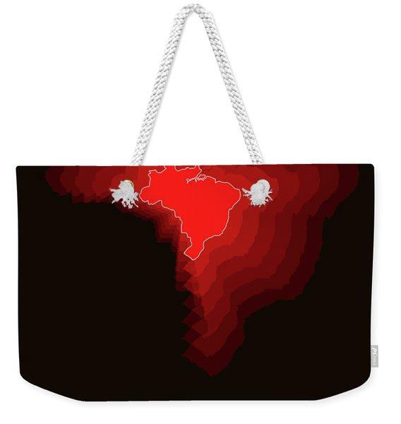 Brazil Radiant Map 3 Weekender Tote Bag