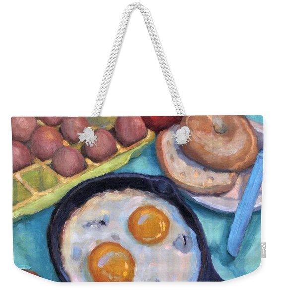 Breakfast Weekender Tote Bag