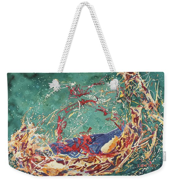 Breaking Out Empty Nest Iv Weekender Tote Bag