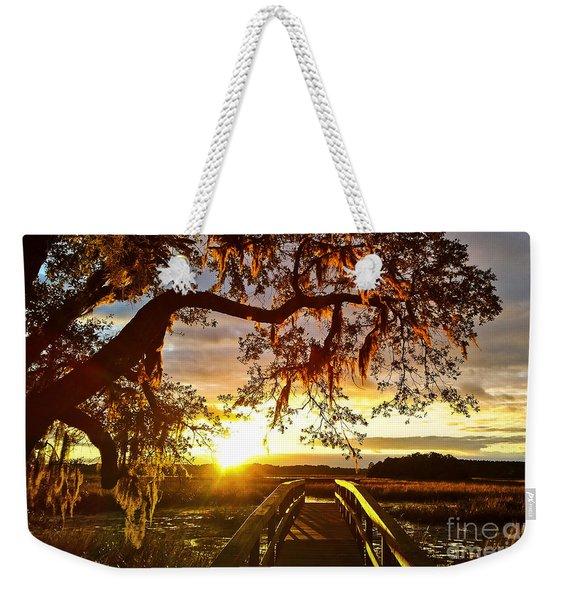 Breaking Sunset Weekender Tote Bag