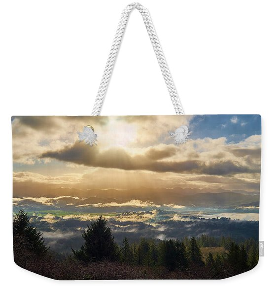 Weekender Tote Bag featuring the photograph Breakthrough by Whitney Goodey