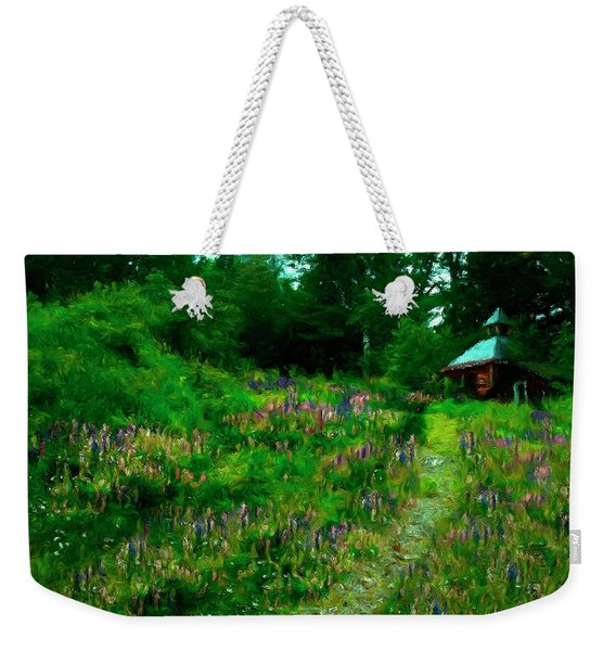 Weekender Tote Bag featuring the photograph Breeze On The Lupine Field by Wayne King