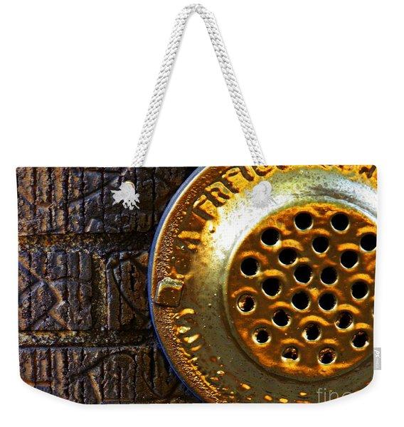 Brick And Gold 1 Weekender Tote Bag