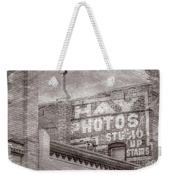 Brick Wall Advert  Weekender Tote Bag