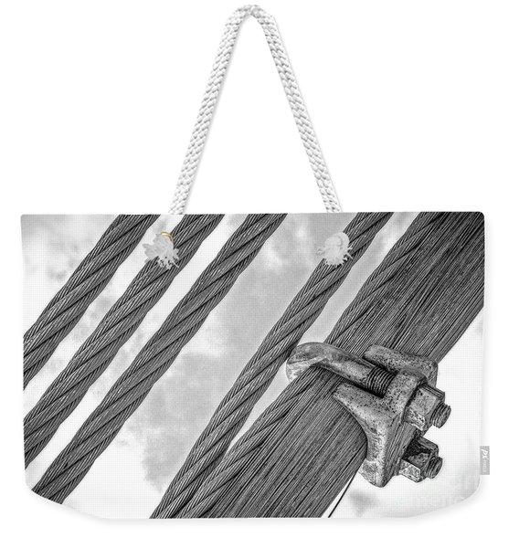 Bridge Cables Weekender Tote Bag