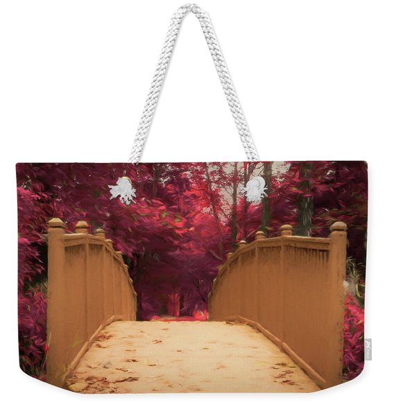 Bridge In The Woods Weekender Tote Bag