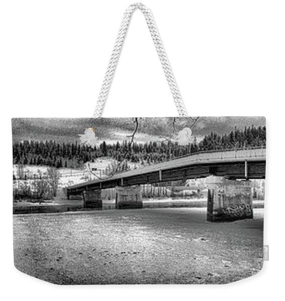 Bridge Over Frozen Waters Weekender Tote Bag