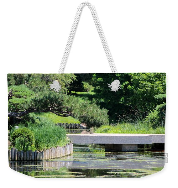 Bridge Over Pond In Japanese Garden Weekender Tote Bag