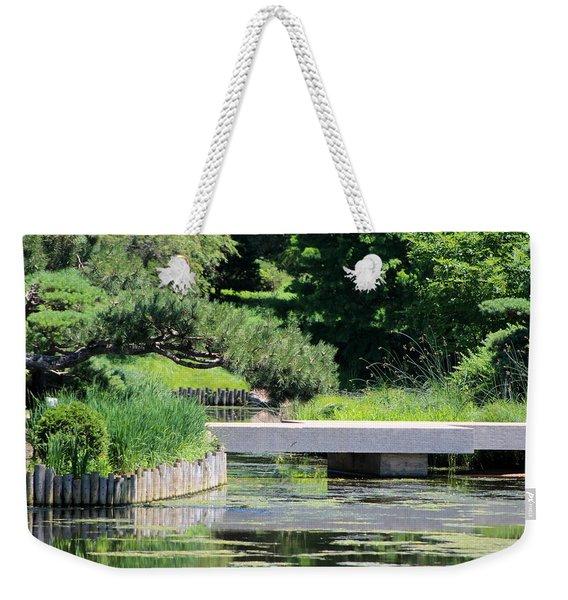 Bridge Over Pond In Japanese Garden Weekender Tote Bag