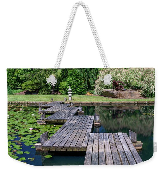 Bridge Over Serene Waters Weekender Tote Bag