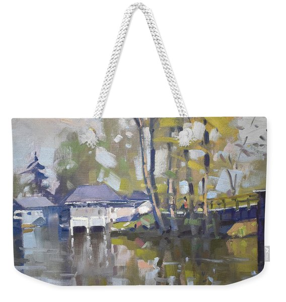 Bridge To Boathouses  Weekender Tote Bag