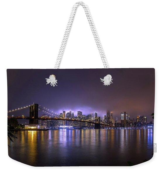 Bright Lights Of New York II Weekender Tote Bag