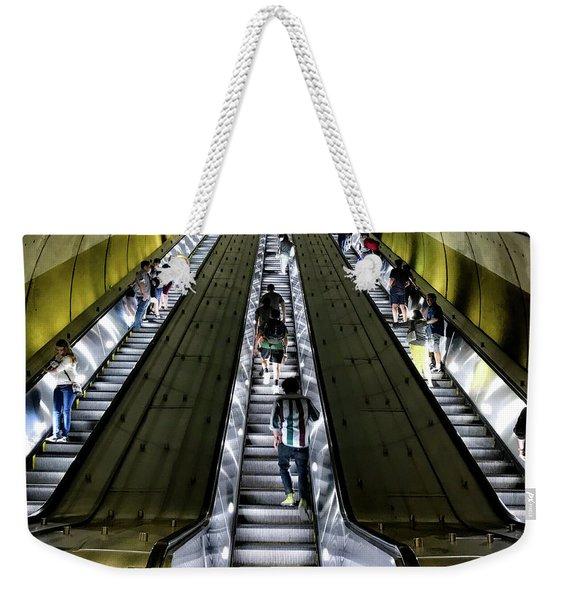 Bright Lights, Tall Escalators Weekender Tote Bag