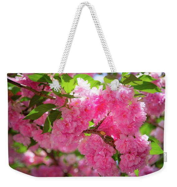 Bright Pink Blossoms Weekender Tote Bag