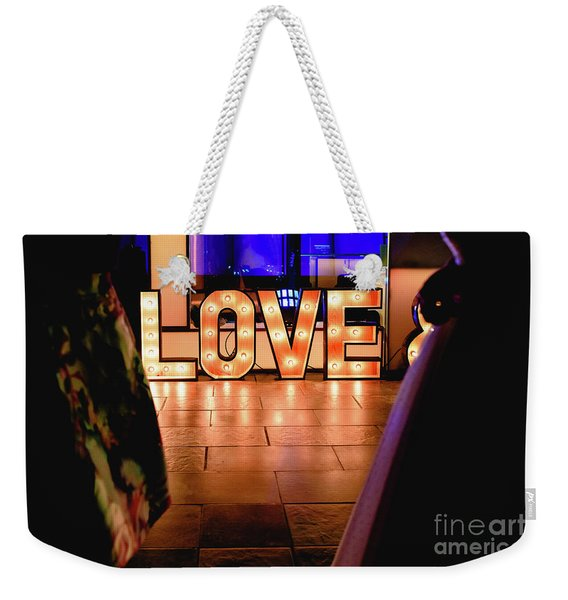 Bright Wooden Letters With Word Love In A Party Weekender Tote Bag