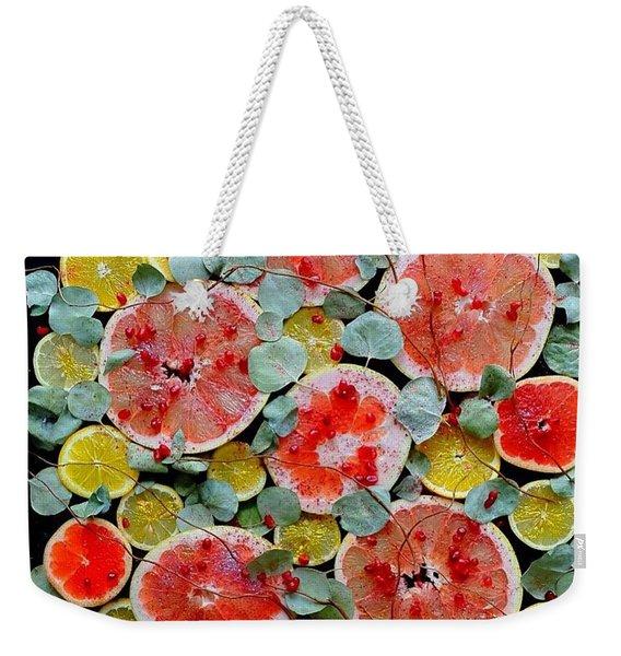Brighter Days Citrus Weekender Tote Bag