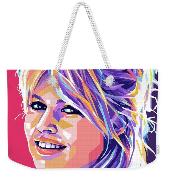 Brigitte Bardot Pop Art Weekender Tote Bag