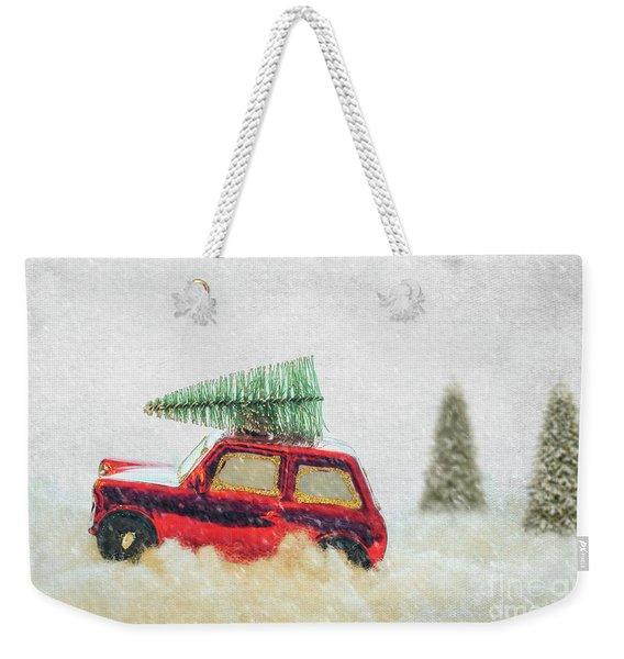 Bringing Christmas Home Weekender Tote Bag