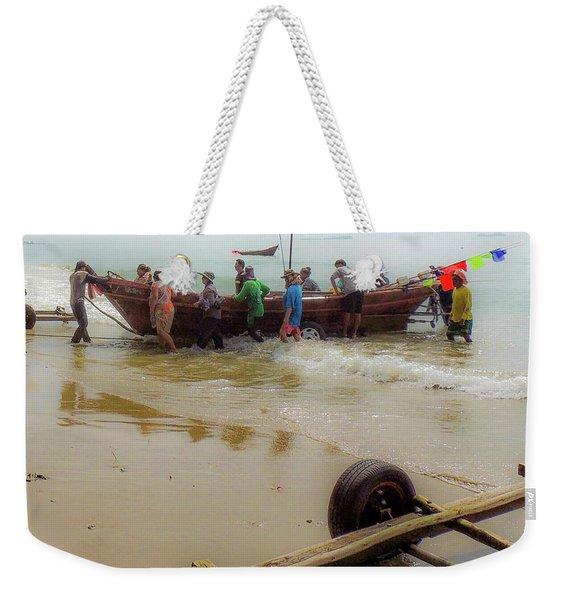 Bringing In The Catch Weekender Tote Bag