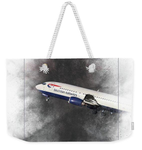 British Airways Boeing 737-400 Painting Weekender Tote Bag