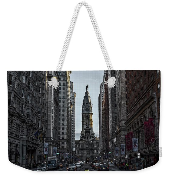 Broad Street - Philadelphia In The Morning Weekender Tote Bag