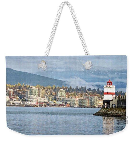 Brockton Lighthouse Weekender Tote Bag