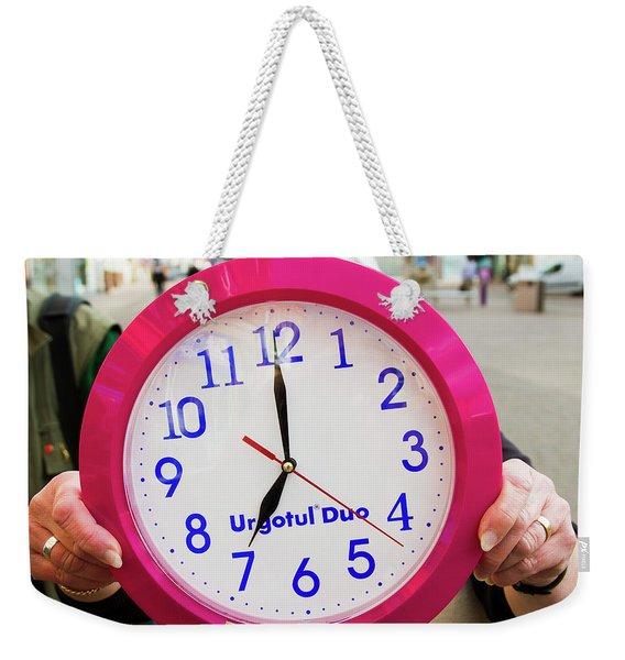 Broken Time Weekender Tote Bag