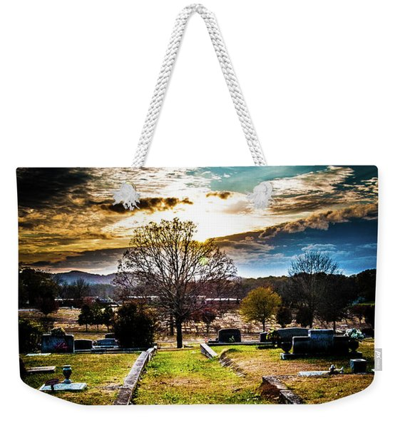 Brooding Sky Over Cemetery Weekender Tote Bag